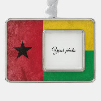 Guinea Bissau Silver Plated Framed Ornament