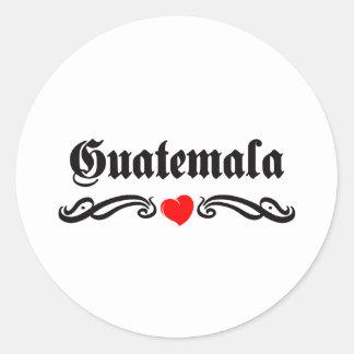 Guinea-Bissau Tattoo Style Classic Round Sticker