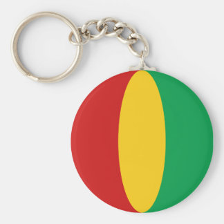 Guinea-Conakry Fisheye Flag Keychain
