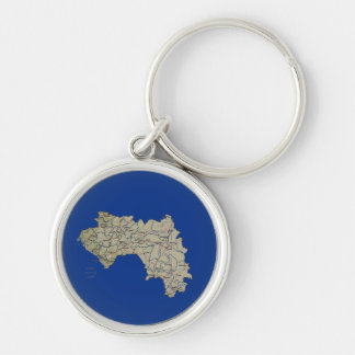 Guinea-Conakry Map Keychain
