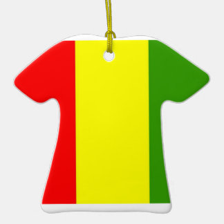 Guinea Flag Double-Sided T-Shirt Ceramic Christmas Ornament