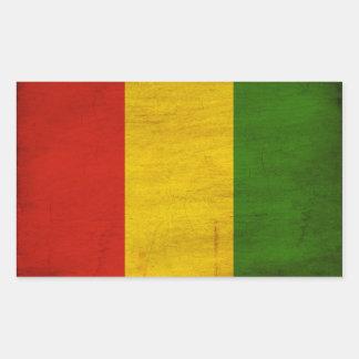 Guinea Flag Rectangular Sticker
