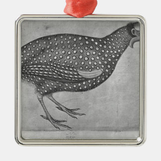 Guinea Fowl, from the The Vallardi Album Christmas Ornament