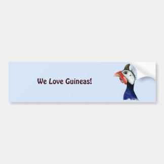Guinea Head Bumper Sticker