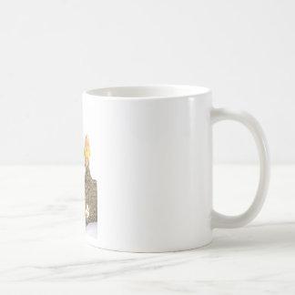 guinea pig and yellow bird coffee mug
