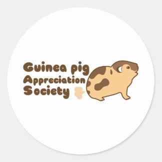 Guinea pig appreciation society GAS Round Sticker