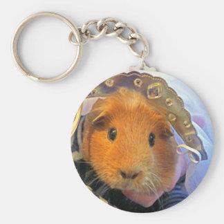 guinea pig bride basic round button key ring