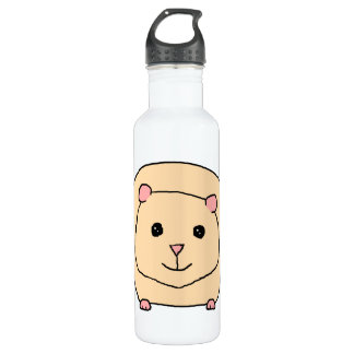 Guinea Pig Cartoon. 710 Ml Water Bottle