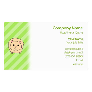 Guinea Pig Cartoon Animal Business Card Templates