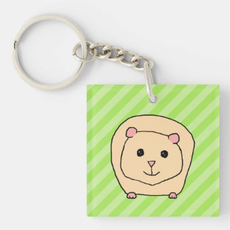 Guinea Pig, Cartoon Animal. Key Ring