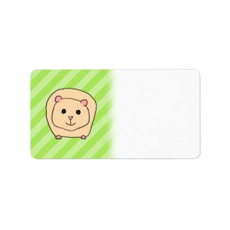 Guinea Pig, Cartoon Animal. Label