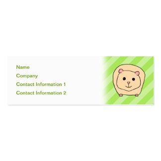 Guinea Pig, Cartoon Animal. Pack Of Skinny Business Cards