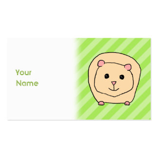 Guinea Pig, Cartoon Animal. Pack Of Standard Business Cards