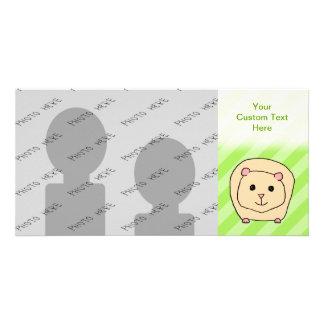 Guinea Pig, Cartoon Animal. Photo Greeting Card