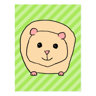 Guinea Pig, Cartoon Animal. Postcard