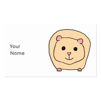 Guinea Pig Cartoon Business Card Template