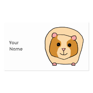Guinea Pig Cartoon. Pack Of Standard Business Cards