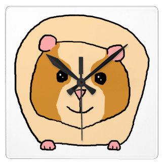 Guinea Pig Cartoon. Square Wall Clock
