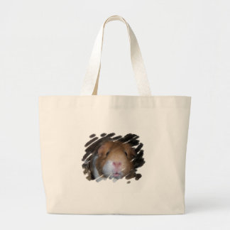 GUINEA PIG CAVY FACE LARGE TOTE BAG