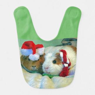 guinea pig Christmas bib