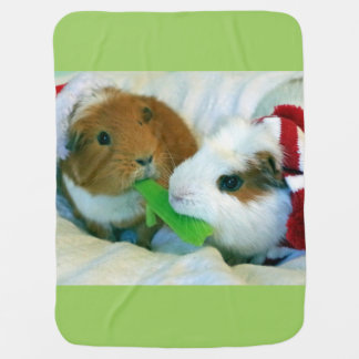guinea pig Christmas blanket Receiving Blankets