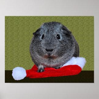 Guinea Pig Christmas Poster