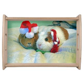 Guinea pig Christmas serving tray
