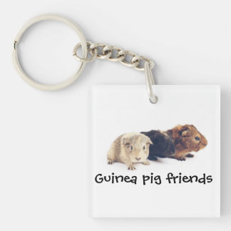 Guinea Pig Friends Keychain
