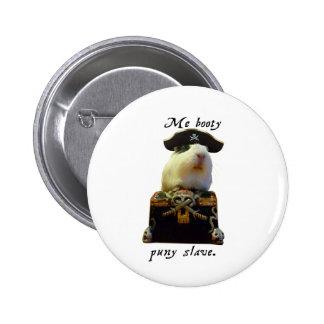 Guinea Pig Funny Pirate 6 Cm Round Badge