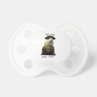 Guinea Pig Funny Pirate Baby Pacifier