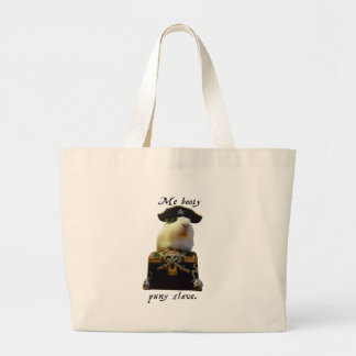 Guinea Pig Funny Pirate Large Tote Bag