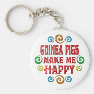 Guinea Pig Happiness Basic Round Button Key Ring