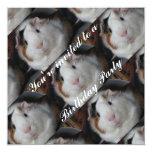 """Guinea pig invite 5.25"""" square invitation card"""