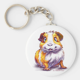 Guinea-pig Basic Round Button Key Ring