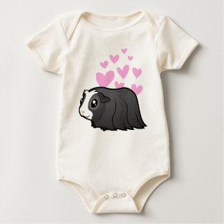 Guinea Pig Love (long hair) Baby Bodysuit