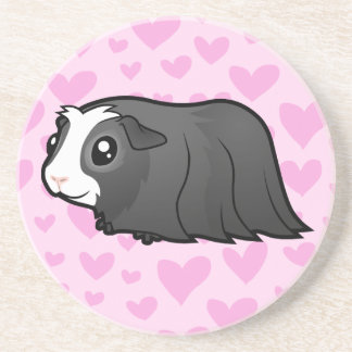 Guinea Pig Love (long hair) Coaster