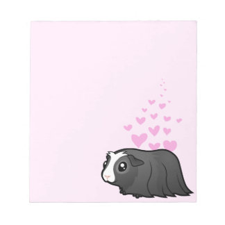 Guinea Pig Love (long hair) Notepad
