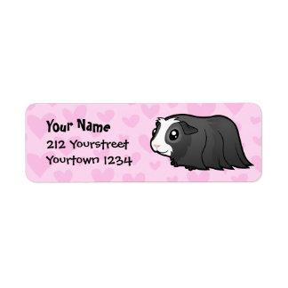 Guinea Pig Love (long hair) Return Address Label