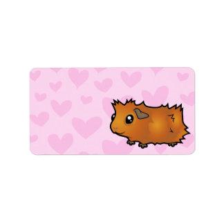 Guinea Pig Love (scruffy) Address Label