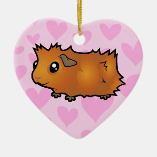 Guinea Pig Love (scruffy) Christmas Ornament
