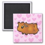 Guinea Pig Love (scruffy) Fridge Magnet