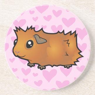 Guinea Pig Love (scruffy hair) Coaster