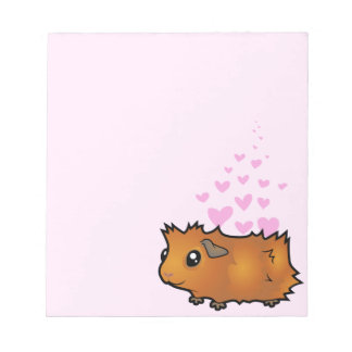 Guinea Pig Love (scruffy) Notepad
