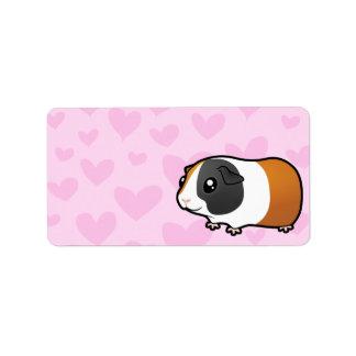 Guinea Pig Love (smooth hair) Address Label