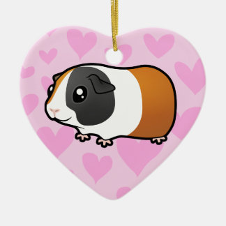 Guinea Pig Love (smooth hair) Christmas Ornament