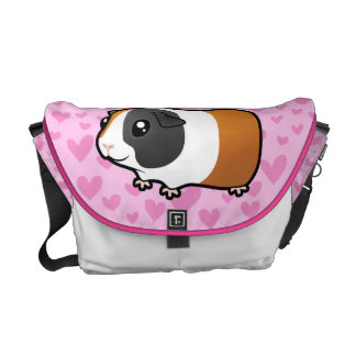 Guinea Pig Love (smooth hair) Courier Bags
