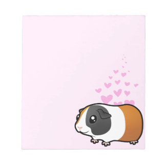 Guinea Pig Love (smooth hair) Notepad