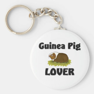 Guinea Pig Lover Basic Round Button Key Ring