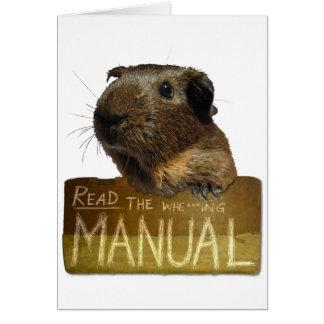 Guinea Pig Manual Greeting Card