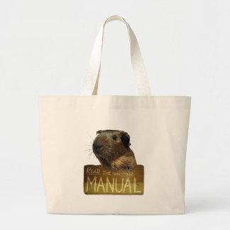 Guinea Pig Manual Jumbo Tote Bag